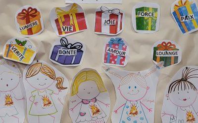 Les enfants découvrent la fête de la Pentecôte